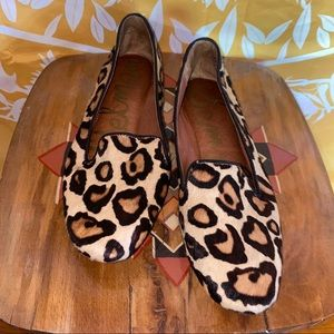 SAM EDELMAN Alvin Leopard Calf Hair Loafer Flat
